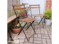 vintage garden chairs. bbq chairs. patio chairs. garden party chairs. folding garden chairs