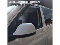 Volkswagen Transporter T6 SNED Wind & Rain Deflectors Front Pair 2pcs Smoked
