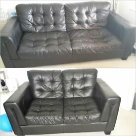 3 & 2 seater leather sofas AVAILABLE IMMEDIATELY