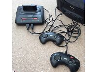 Sega mega drive 2 with 6 games