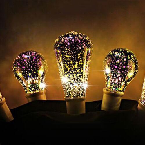 LED Light Bulb E27 Fireworks Decorative 3D Edison Party Lamp