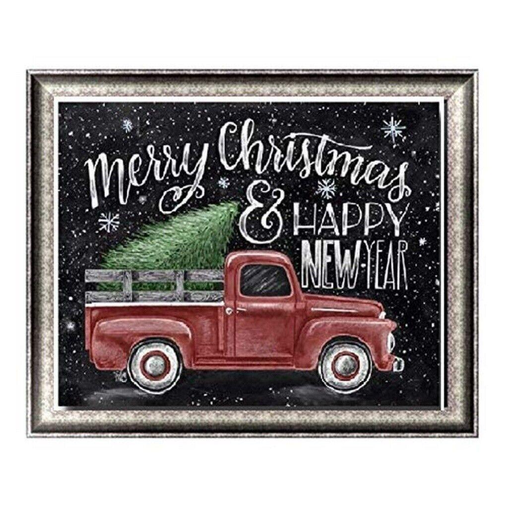 Christmas Gifts Full Drill 5d Diamond Painting Kits Festival Decor Red Truck Diy Ebay