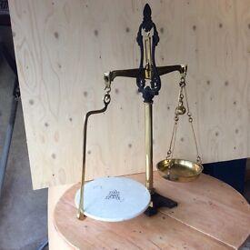 Brass scales antique