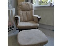 Tutti Bambini reclining nursing chair and footstool