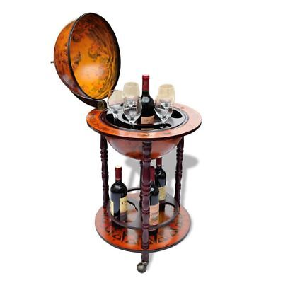 Bar Globe Wine Container Drink Cabinet Stand Liquor Bottle Holder Shelf Decor