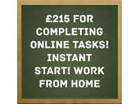 £240 Part Time For Completing Online Tasks - Immediate Start