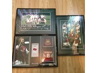 3 x West Ham United Football Club Collectable Pictures