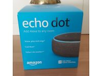 Amazon Echo Dot smart speaker, 3rd gen (latest version), charcoal, brand new & sealed in box