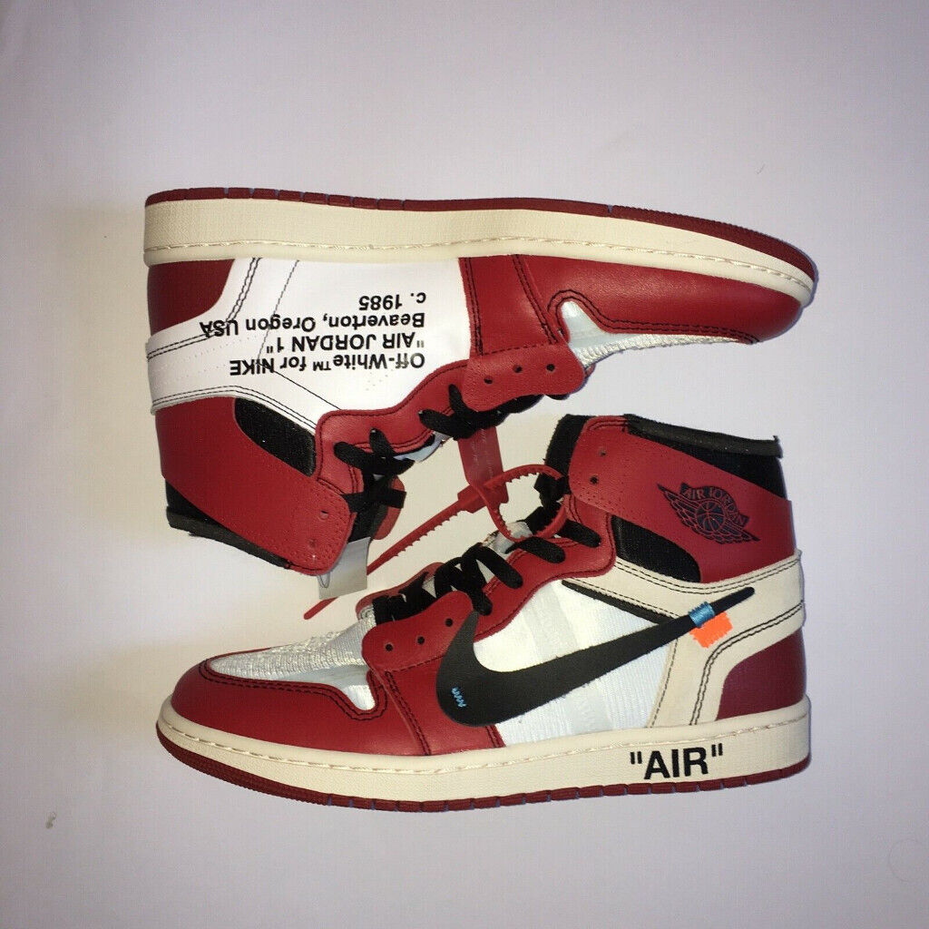 new style 58826 8c979 Details about Off White x Nike Jordan 1 Chicago UK 9 Brand New | in  Windsor, Berkshire | Gumtree