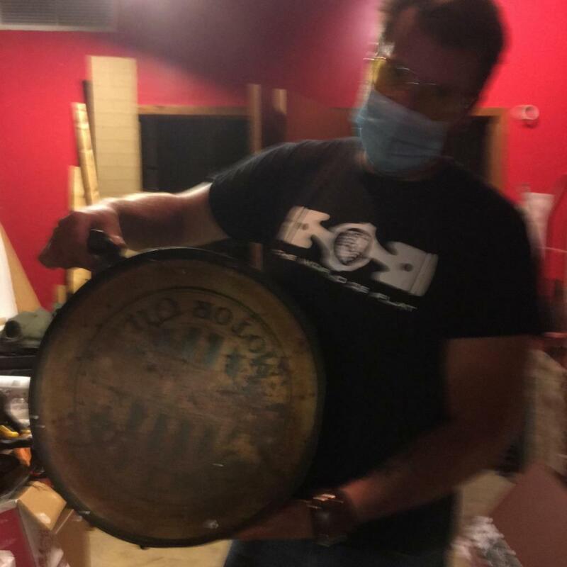 sinclair rocker can motor gasoline oil dealer porcelain sign MAKE AN OFFER!