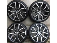 """19"""" vw Golf Santiago Alloy Wheels Black Polished Caddy Van Passat Seat Leon Audi A3 A4 alloys rims"""