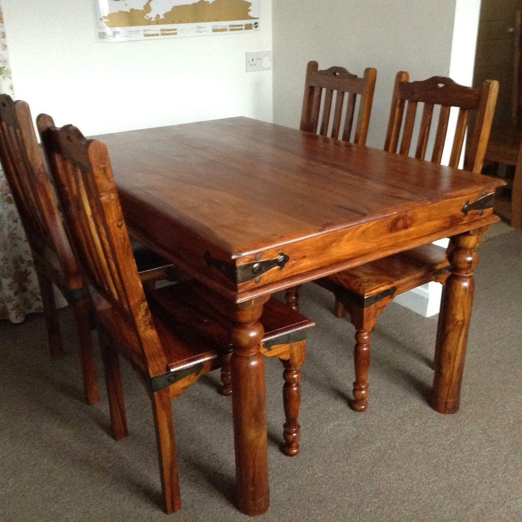 Genial RUSTIC MEXICAN STYLE DINING ROOM TABLE, FOUR CHAIRS MAY DELIVER