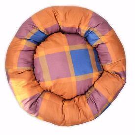 CUBES – DONUT UNUSUAL DOG BEDS. Grey & Beige Squares Nesting Dog Bed. 4 Sizes Pet Bed