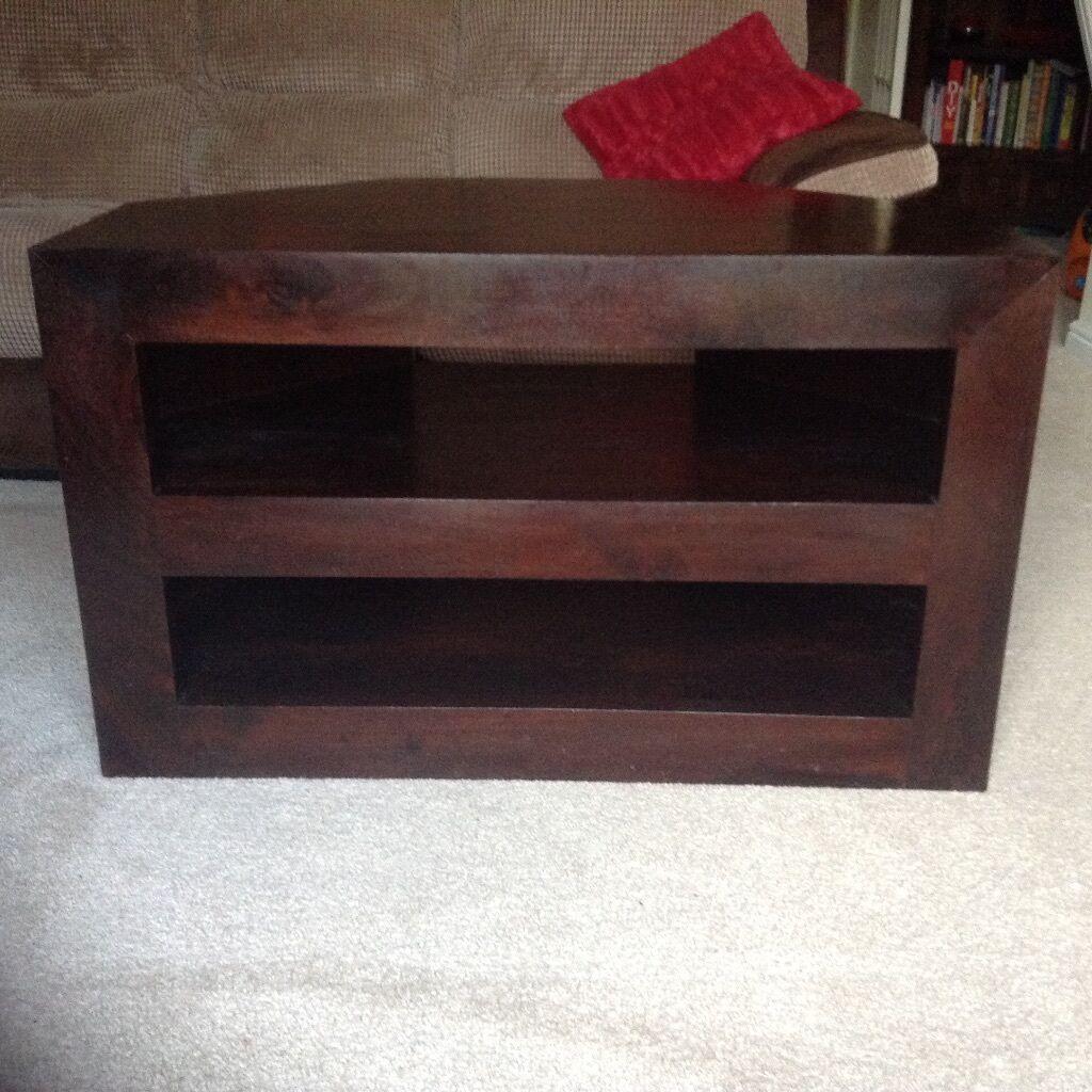 dakota dark wood corner tv unit in witham essex gumtree. Black Bedroom Furniture Sets. Home Design Ideas