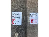 Carpet rollend bargains only £20 each