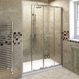 1400 glass shower door
