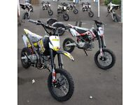 I have 2 new pit bikes used for 2 hours each 140 cc and 160cc 82cm high as new condition