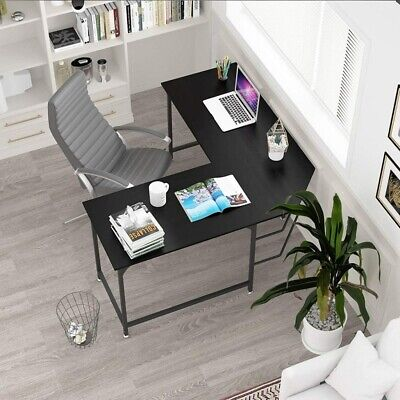 L-shape Computer Desk Pc Laptop Corner Gaming Table Workstation For Small Spaces