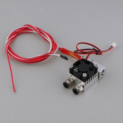 3d Printer Parts Hot End 2 In 1 Out Double Color Extruder 12v24v With Fan