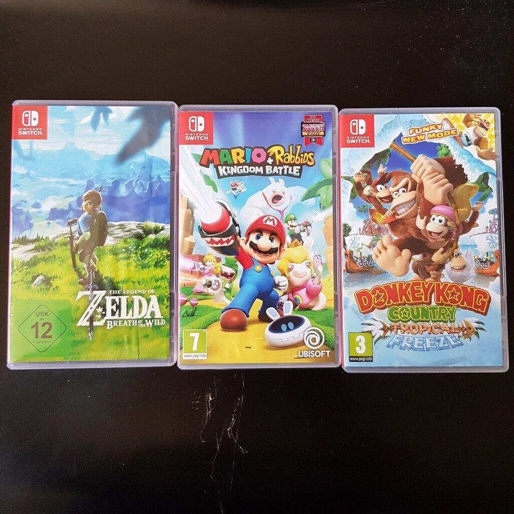 (Switch Games) Zelda +Mario and Rabbids + Donkey Kong | in Highbury, London  | Gumtree