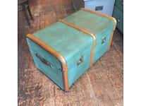 Antique/vintage bentwood trunk suitcase