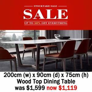 240120cm wood top dining table was now 899