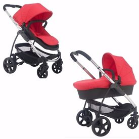 iCandy Strawberry 2 Chrome Pushchair Carrycot Adaptors Colour Pack Lush Red EX Display