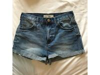 "Size 8 topshop ""rosa"" denim shorts"