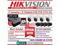 Hikvision HiWatch Full CCTV Kit: 8CH Hikvision HiWatch Turbo-HD DVR, 4x HiWatch 2MP Dome Cameras