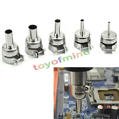 5pcs Heat Gun Nozzles Heat Air Guns Nozzle For Hot Air Soldering Station Us