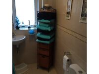 STEELE AND WICKER BATHROOM STAND