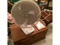 Fan variable speed electric table top fan