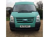 2009 Ford Transit 350 lwb high roof multi purpose/ camper/courier/builder van No vat