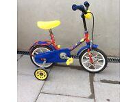 Unisex girls boys red blue yellow small teddy first bike £15 ono