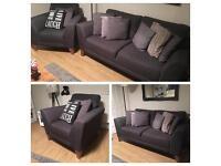 Grey sofa & armchair from Cargo