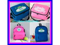 personalized kids lunchbox and backpack