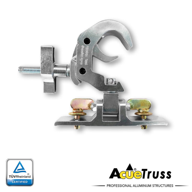 Acue Lighting Truss Heavy Duty Trigger Compact Clamp W/ Omega Bracket