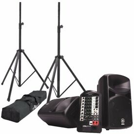 Yamaha Stagepas 400i PA System with stands and covers