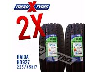 2 x New 225/45R17 Haida Tyre - 225 45 17 - Fitting Available