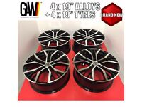 """NEW 19"""" TYRES + VW GOLF SANTIAGO ALLOYS WHEELS GTI GTD R R32 - FIT ALL 5X112 - ASK FOR DELIVERY"""