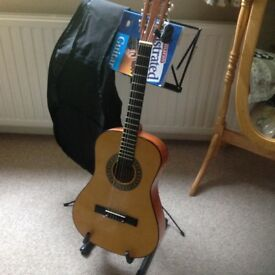 Small Palma guitar with accessories