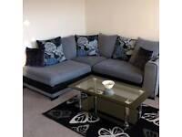 Corner Sofa and Cuddle/Twister Chair