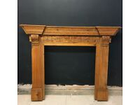 Large Ornate Wooden Fire Surround in Very Good Condition