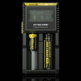 Nitcore d2 battery charger vape