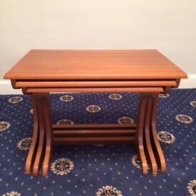 Nest of 3 wooden side tables