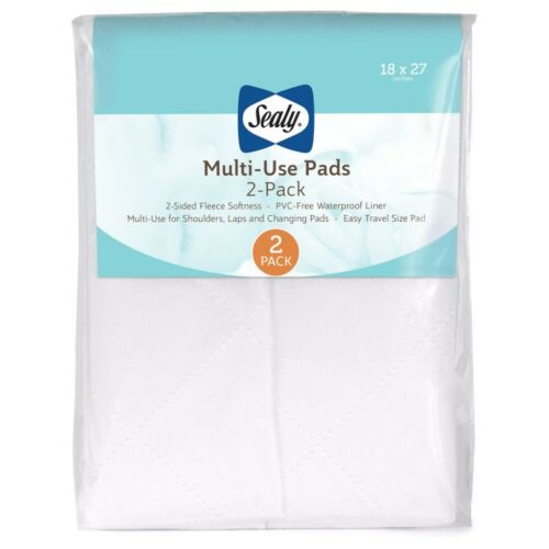 Sealy Multi-Use Pads with Waterproof Liner Travel Size 2 Pack NEW