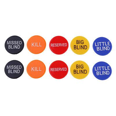 10x BIG BLIND LITTLE BLIND MISSED BLIND KILL RESERVED Dealer Buttons Casino