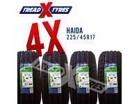 4 x New 225/45R17 Haida Tyre - 225 45 17 - Fitting Available