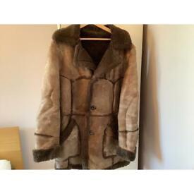 Sheep skin men's coat