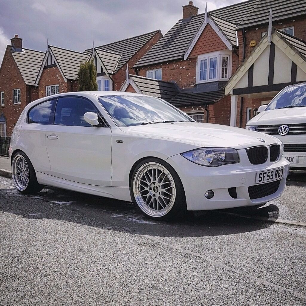 bmw 1 series m sport 3 door white petrol manual tastefully modified 118i fsh 64k in coppull. Black Bedroom Furniture Sets. Home Design Ideas